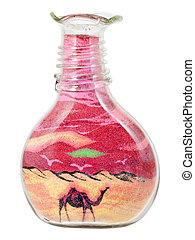 Bottle with sand picture.