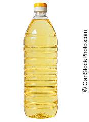 Bottle with sunflower oil
