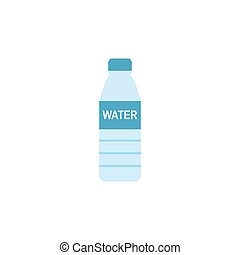 Bottle with water isolated on white background