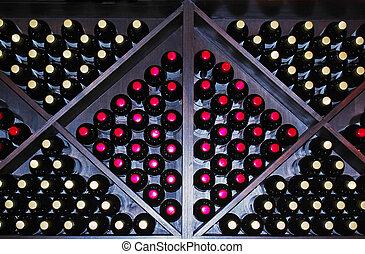 bottled wine storage