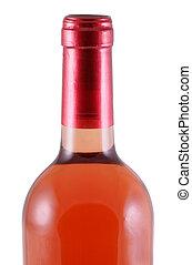 Bottleneck. - Close up of the upper part of a winebottle,...