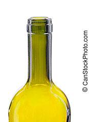 Bottleneck - Close-up on the bottleneck of a green glass...