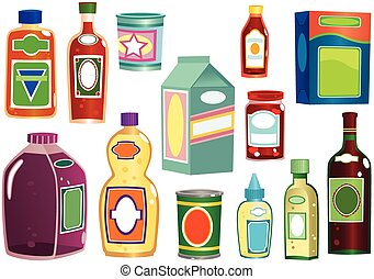 Bottles and containers collection