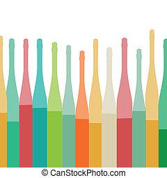 Bottles colorful background