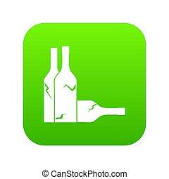 Bottles icon digital green