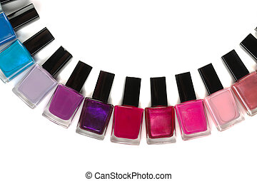 Bottles nail polish semi-circle