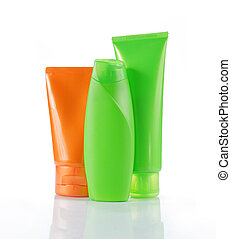 bottles of beauty products