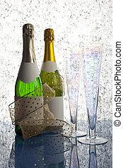 Bottles of champagne