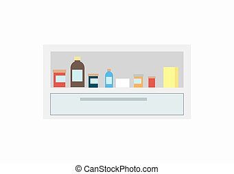Bottles of Different Colors Vector Illustration