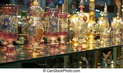 Bottles of Essential Oils used in Perfume Making Displayed...