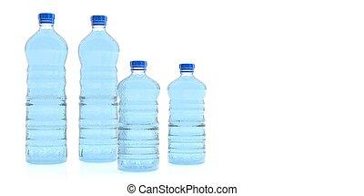 Bottles of mineral water. 3d illustration