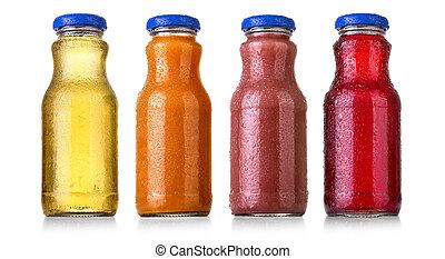 bottles of soda or juice