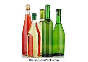 Bottles of wine.