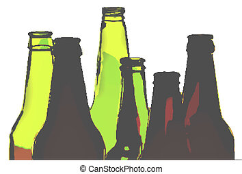 Bottles - Opaque picture of bottle necks, useful for flyers,...