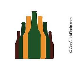 Bottles set flat icon