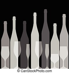 Bottles silhouette black