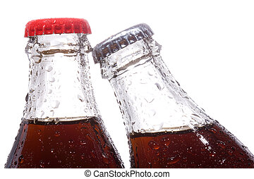 bottles with cola