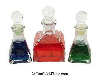 Bottles With Colorful Liquid
