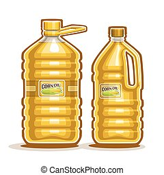 Bottles with Corn Oil