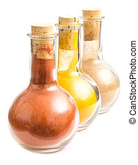 Bottles With Indian Spices