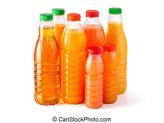 Bottles with juice