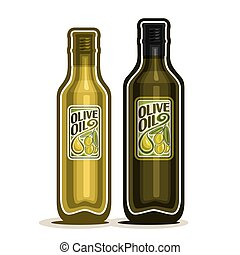 Bottles with pure Olive Oil