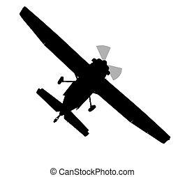 Bottom profile silhouette of X328 Atlas Angel Turbine...