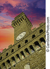 Bottom-Up view of Piazza della Signoria in Florence