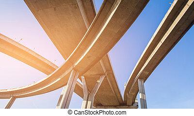Bottom view Highway interchange