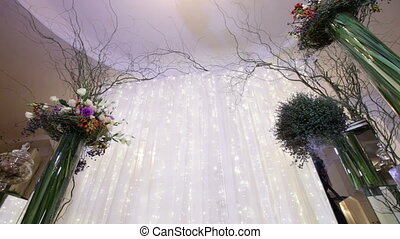 Bottom view Wedding ceremony - Festively decorated Elements...