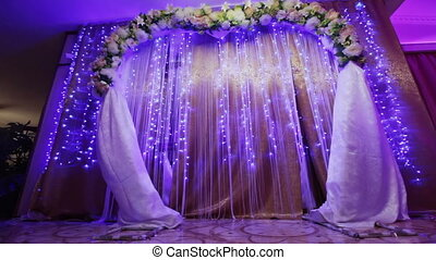 Bottom view Wedding ceremony - Festively decorated Elements...