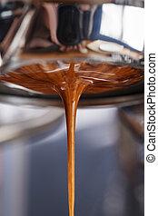 bottomless, extracción, portafilter, espresso