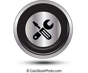 bottone, alluminio