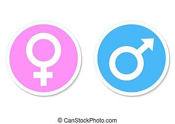 bottone, arrotondato, illustrazione, vettore, femmina, maschio, casato