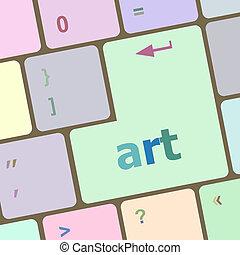 bottone, arte calcolatore, chiave, tastiera
