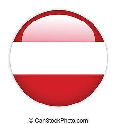 bottone, bandiera, austria