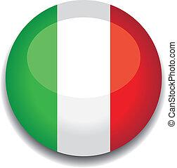 bottone, bandiera italia