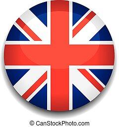 bottone, bandiera, regno unito