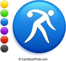 bottone, bowling, icona, rotondo, internet