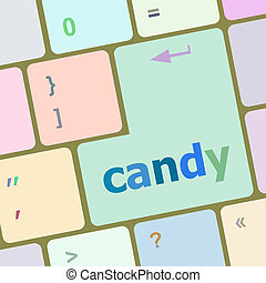 bottone, chiave calcolatore, caramella, tastiera