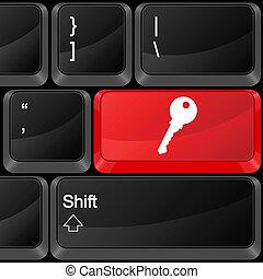 bottone, chiave calcolatore