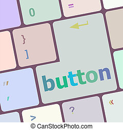 bottone, computer, parola, chiave, tastiera