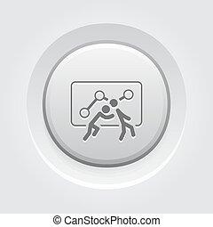 bottone, design., lavoro squadra, icon., grigio