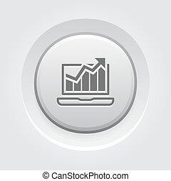 bottone, design., traffico, icon., grigio