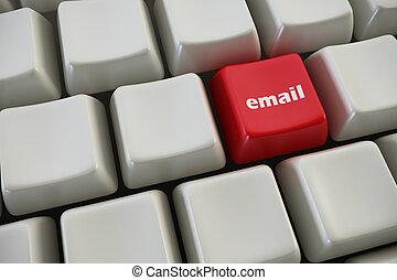 bottone, email, tastiera