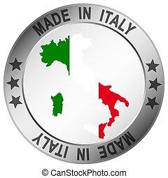 bottone, fatto, italia