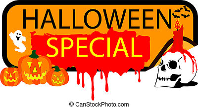 bottone, halloween, speciale