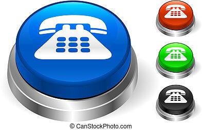 bottone, icona, telefono, internet