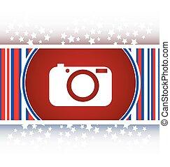 bottone, illustrazione, originale, macchina fotografica, internet, rotondo, icona