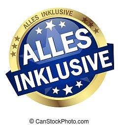 bottone, (in, inclusivo, bandiera, tutto, german)